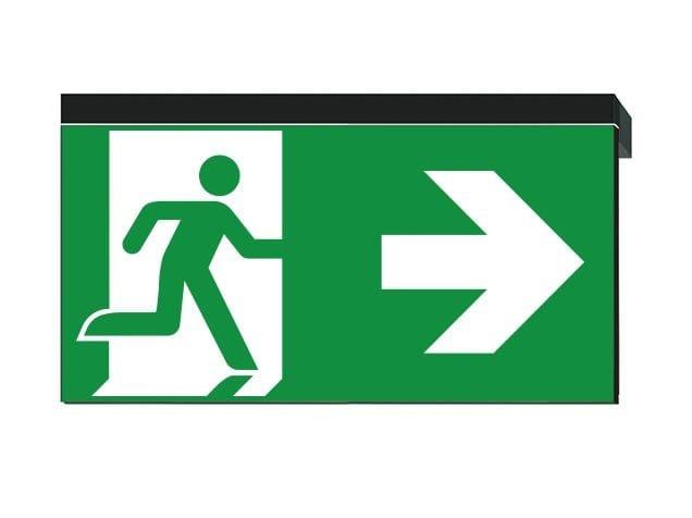 LED PETG emergency light for signage IKUS-P by DAISALUX