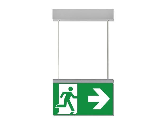 LED suspended emergency light for signage IKUS-S by DAISALUX