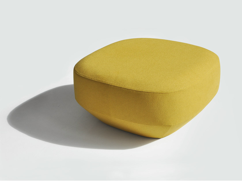 Upholstered square pouf ILE | Square pouf by BENSEN