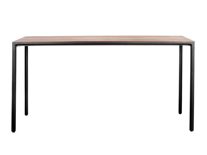 Rectangular teak high table ILLUM BAR | High table by TRIBÙ