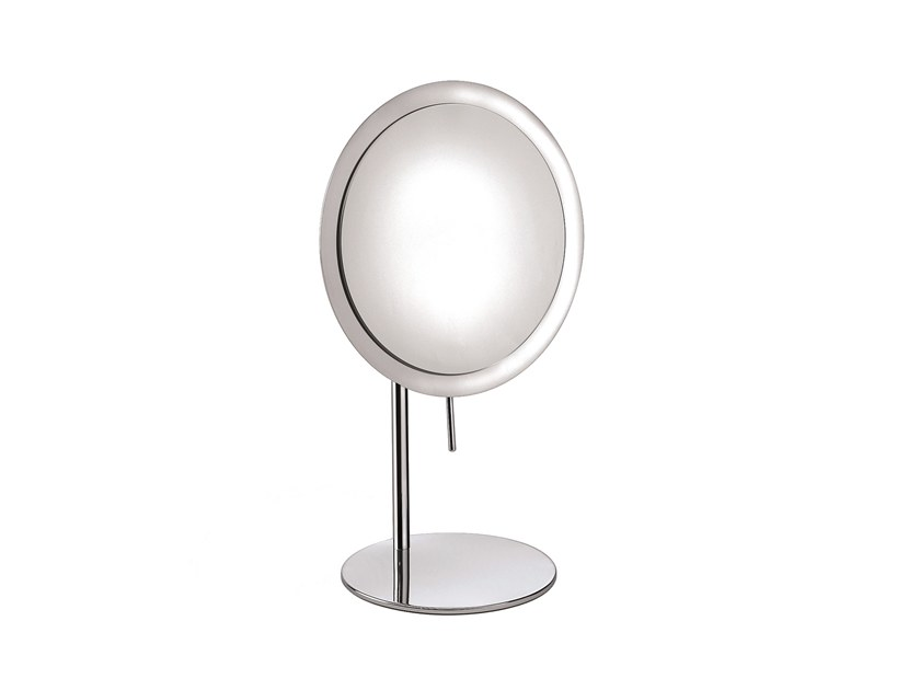 Countertop round shaving mirror ILLUSION 908108002 | Shaving mirror by pomd'or