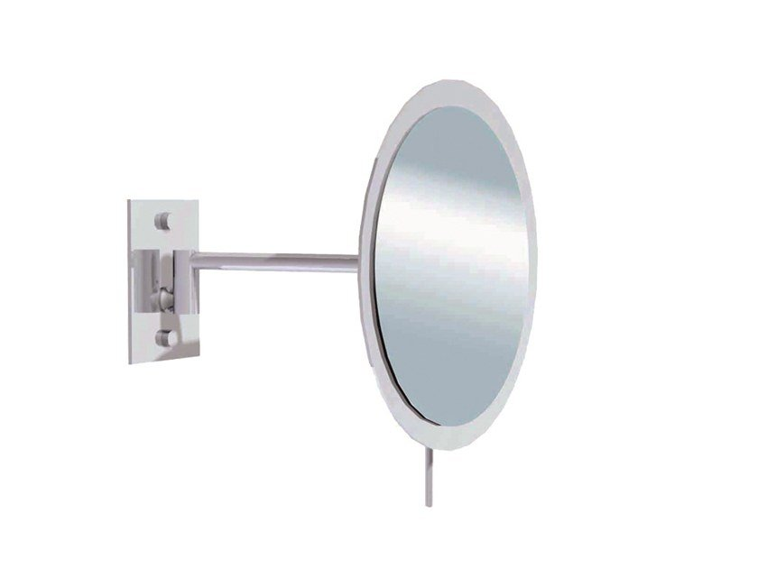 Wall-mounted round shaving mirror ILLUSION 908150002 | Shaving mirror by pomd'or