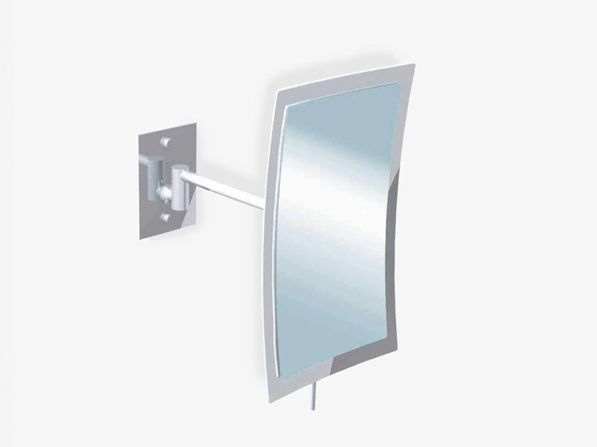 Wall-mounted rectangular shaving mirror ILLUSION 908151002 | Shaving mirror by pomd'or