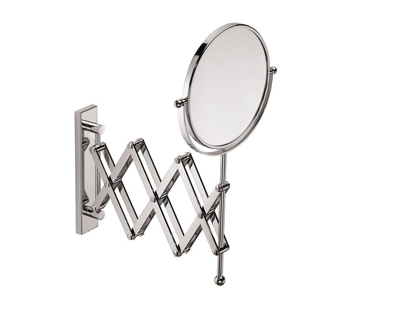 Wall-mounted double-sided round shaving mirror ILLUSION 908153002 | Shaving mirror by pomd'or