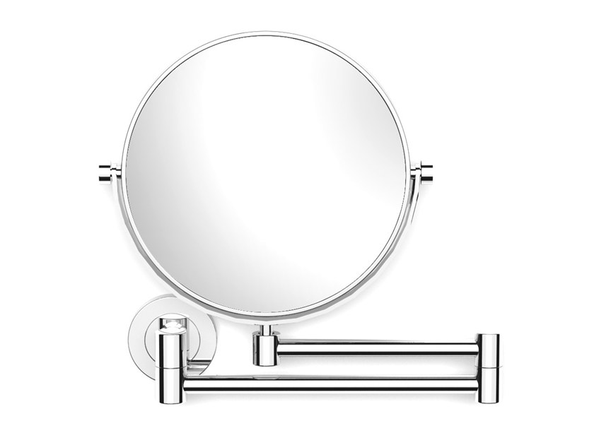 Wall-mounted double-sided round shaving mirror ILLUSION 908254002 | Shaving mirror by pomd'or