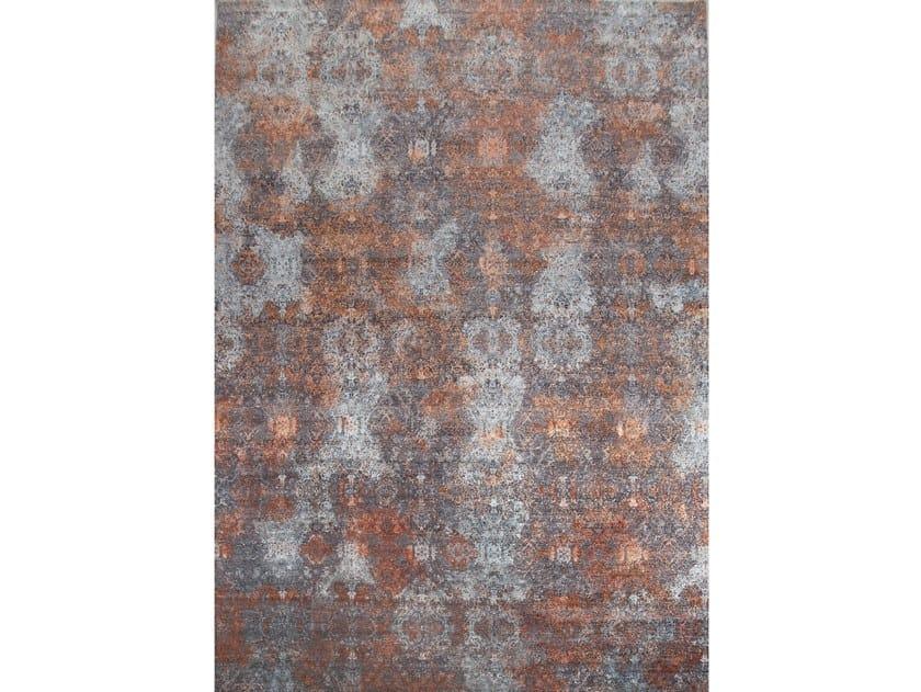 Handmade rectangular rug ILLUSION BLUR by EBRU