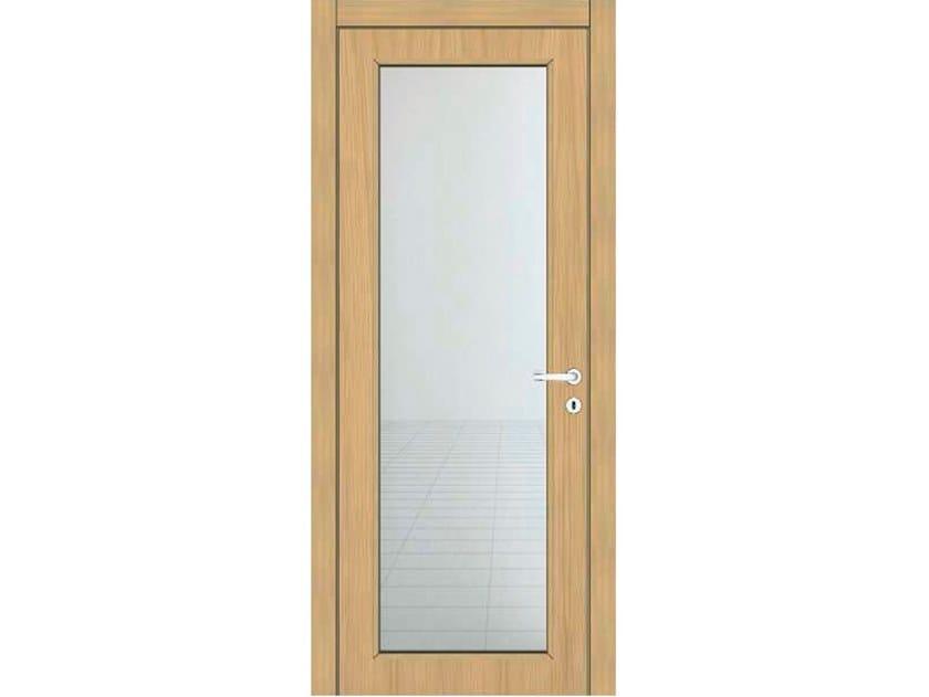 Hinged wooden door IMAGO 11V1 ROVERE GHIACCIO by GD DORIGO