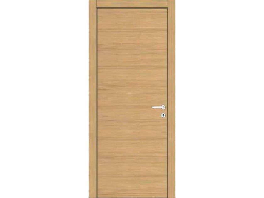 Hinged wooden door IMAGO 13 ROVERE GHIACCIO by GD DORIGO