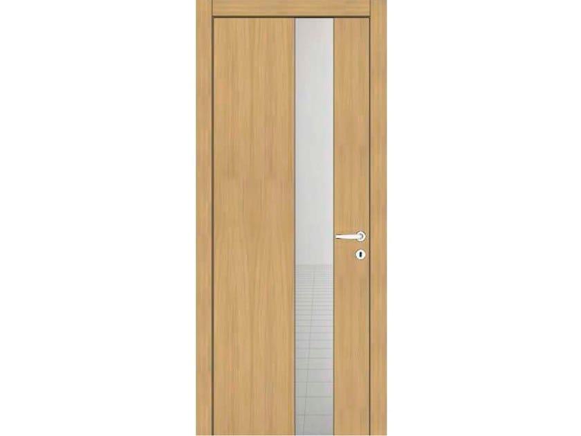 Hinged wooden door IMAGO 32V1 ROVERE GHIACCIO by GD DORIGO