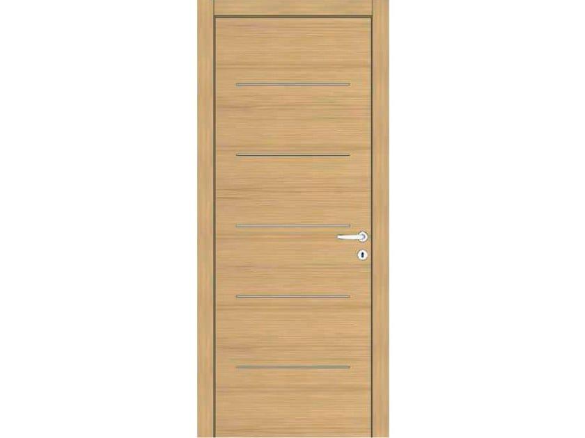 Hinged wooden door IMAGO 396 ROVERE GHIACCIO by GD DORIGO