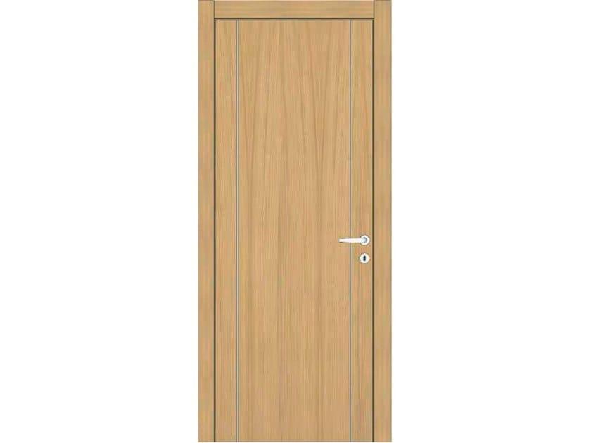 Hinged wooden door IMAGO 391 ROVERE GHIACCIO by GD DORIGO