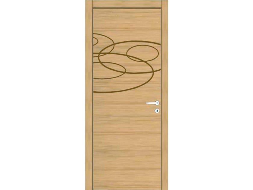 Hinged wooden door IMAGO 360T ROVERE GHIACCIO by GD DORIGO