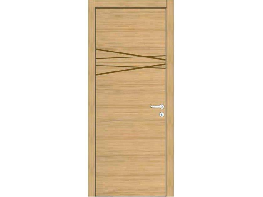 Hinged wooden door IMAGO 362T ROVERE GHIACCIO by GD DORIGO