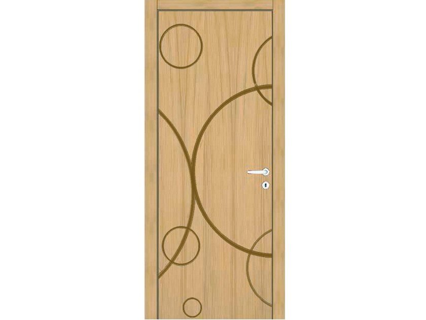 Hinged wooden door IMAGO 366T ROVERE GHIACCIO by GD DORIGO