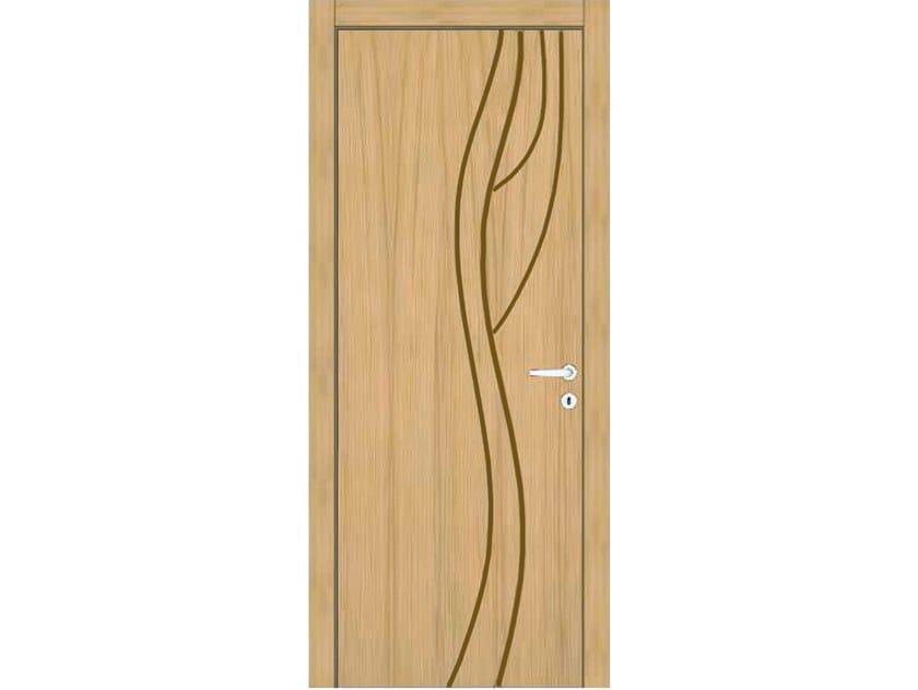 Hinged wooden door IMAGO 368T ROVERE GHIACCIO by GD DORIGO