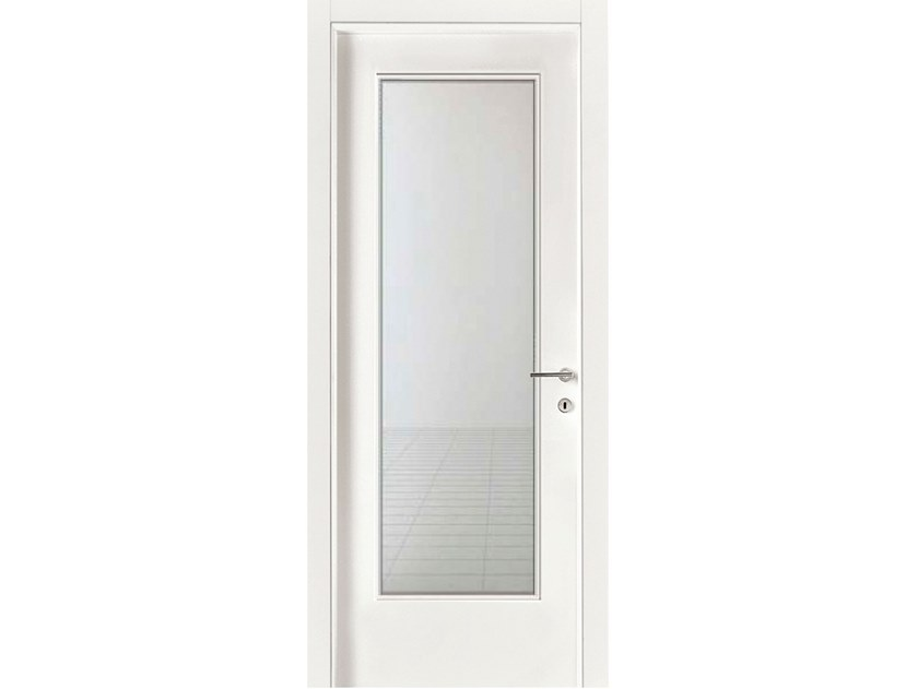 Hinged wood and glass door IMAGO 530IV1 FRASSINO BIANCO INCISO by GD DORIGO