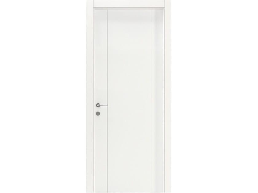 Hinged wooden door IMAGO 575I FRASSINO BIANCO INCISO by GD DORIGO