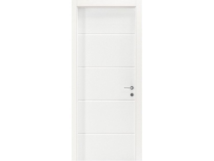 Hinged wooden door IMAGO 572I FRASSINO BIANCO INCISO by GD DORIGO