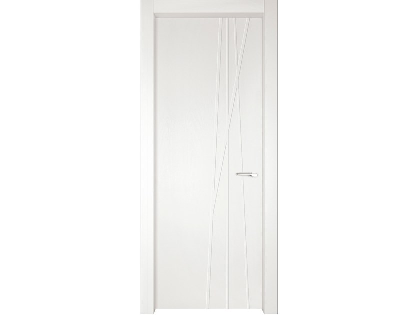 Hinged wooden door IMAGO 570I FRASSINO BIANCO INCISO by GD DORIGO