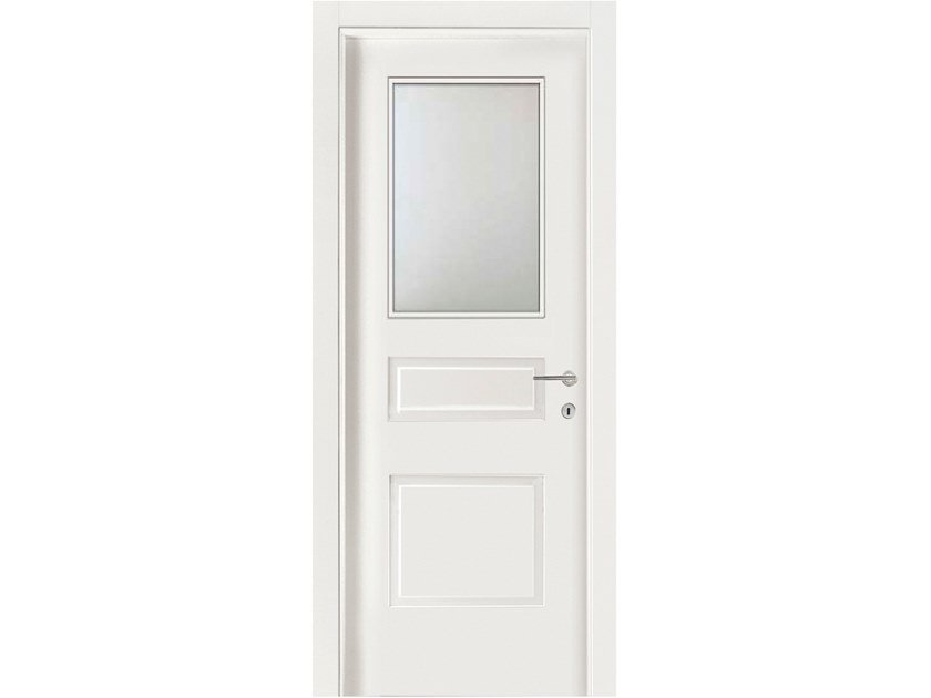 Hinged wood and glass door IMAGO 571IV1 FRASSINO BIANCO INCISO by GD DORIGO
