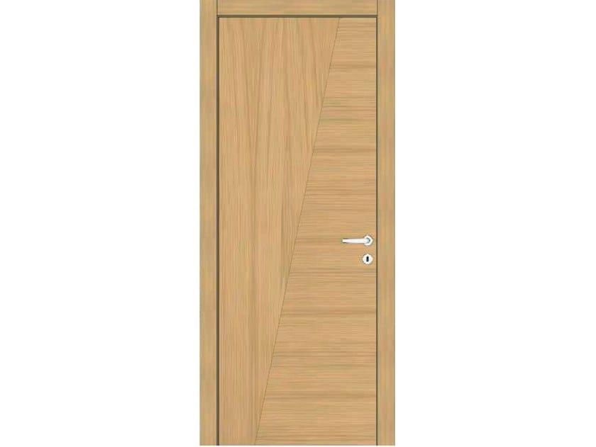 Hinged wooden door IMAGO 620I ROVERE GHIACCIO by GD DORIGO