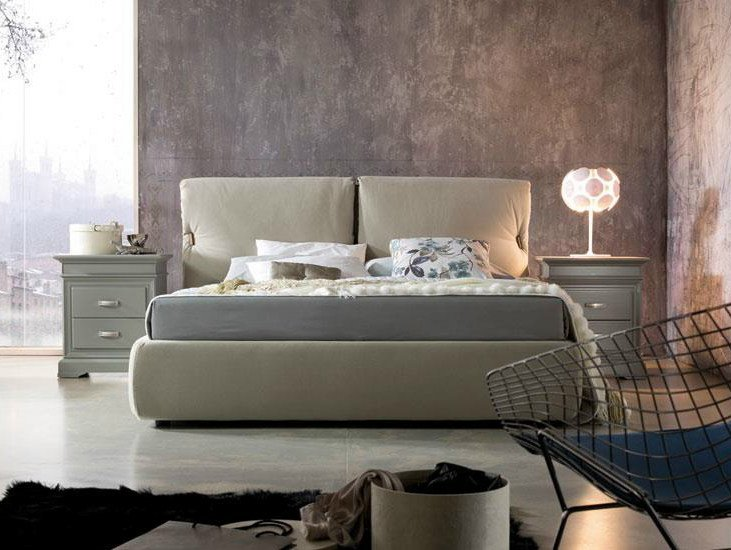 Fabric double bed with removable cover IMBOTTITI | Fabric bed by Devina Nais