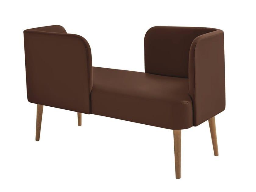 Imitation leather restaurant booth METROPOLITAN | Imitation leather small sofa by Sedex