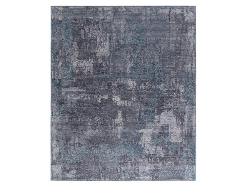 Handmade custom rug IMMERSIVE FRESCO TURQUOISE by Thibault Van Renne