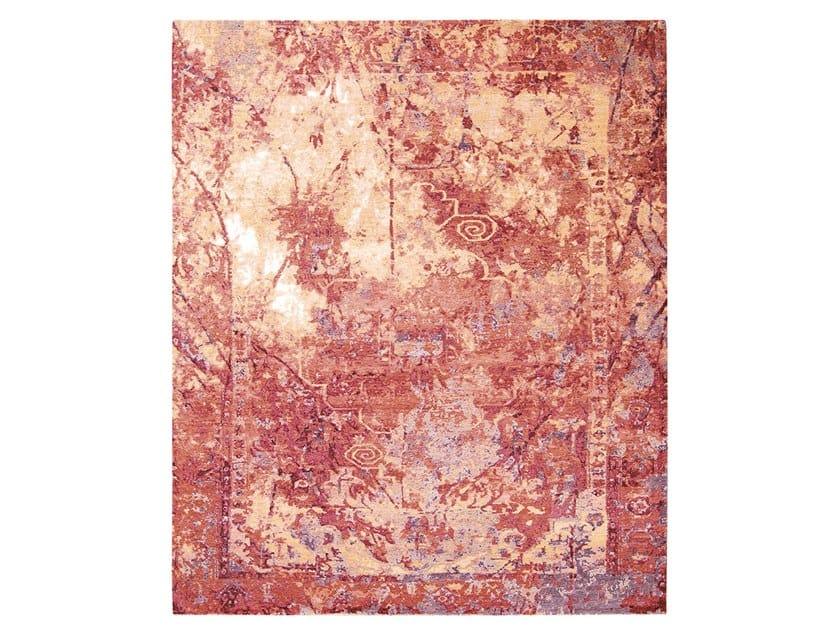 Handmade custom rug IMMERSIVE FURY RED GOLD by Thibault Van Renne