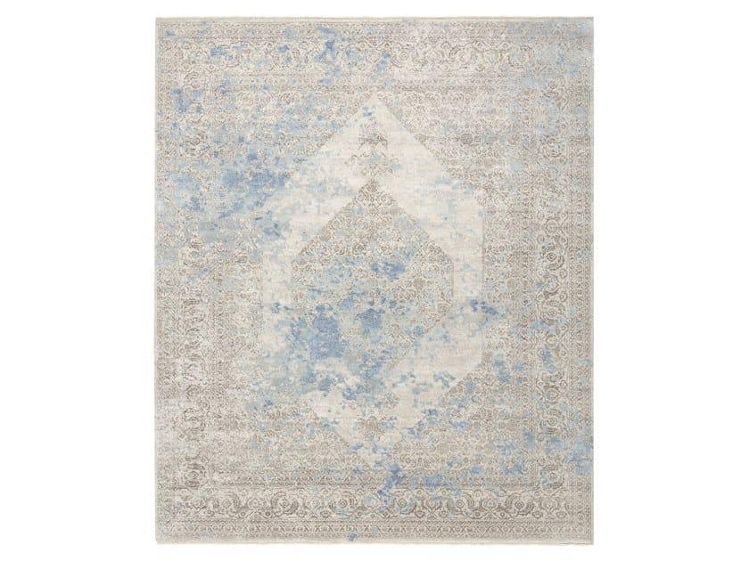 Handmade custom rug IMMERSIVE LOST MEMORY BLUE BROWN by Thibault Van Renne