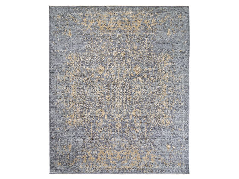 Handmade custom rug IMMERSIVE TRED GREY GOLD by Thibault Van Renne