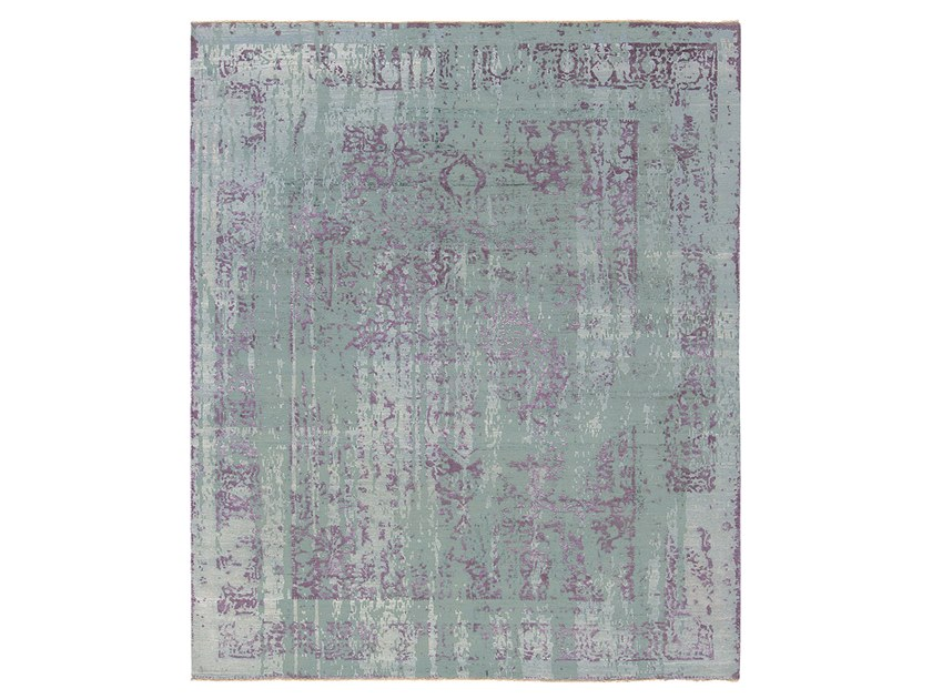 Tappeto fatto a mano su misura IMMERSIVE VISPAN GREEN PURPLE by Thibault Van Renne
