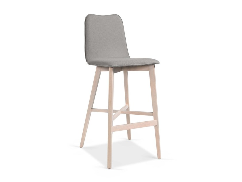 High stool with back with footrest IMO BAR by Fenabel