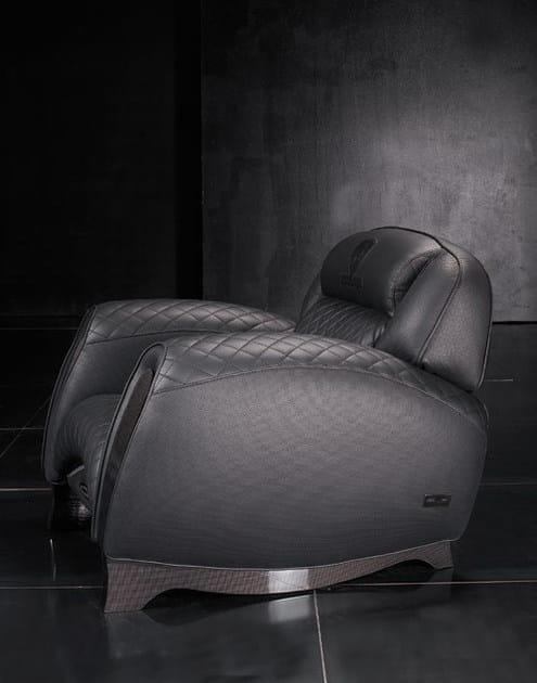 Imbottita In Pelle Braccioli Casa Tonino Imola Con Lamborghini CarbonPoltrona CxedBor