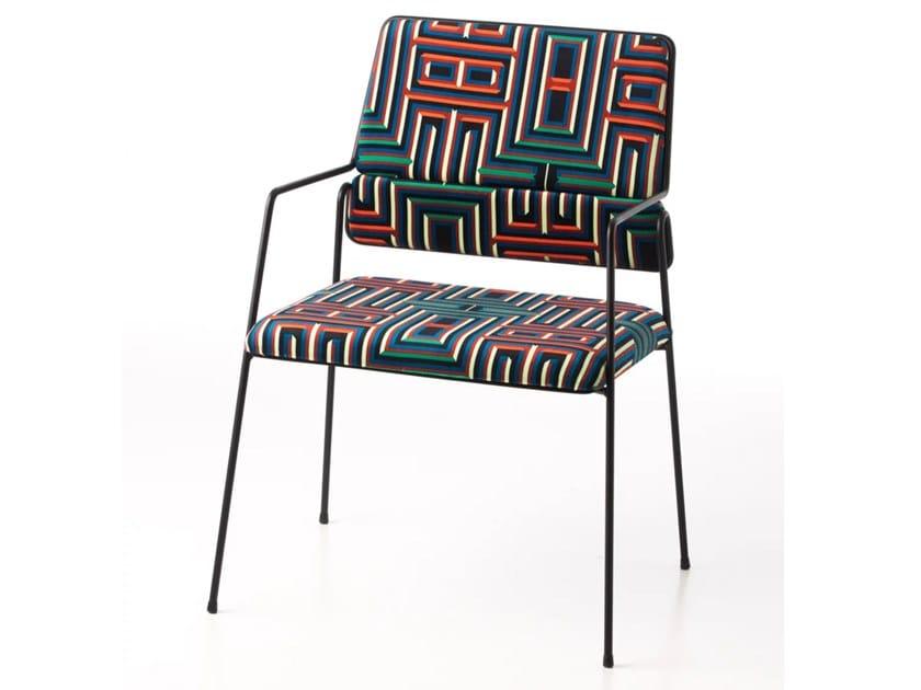 Sedia in poliestere con braccioli IMPALA© BY CORALIE PRÈVERT | Sedia con braccioli by AIRBORNE