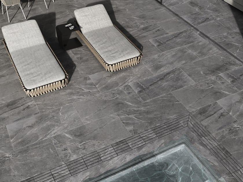 Revestimiento de pared/suelo de gres porcelánico efecto mármol IMPERIAL CENIZA by Exagres