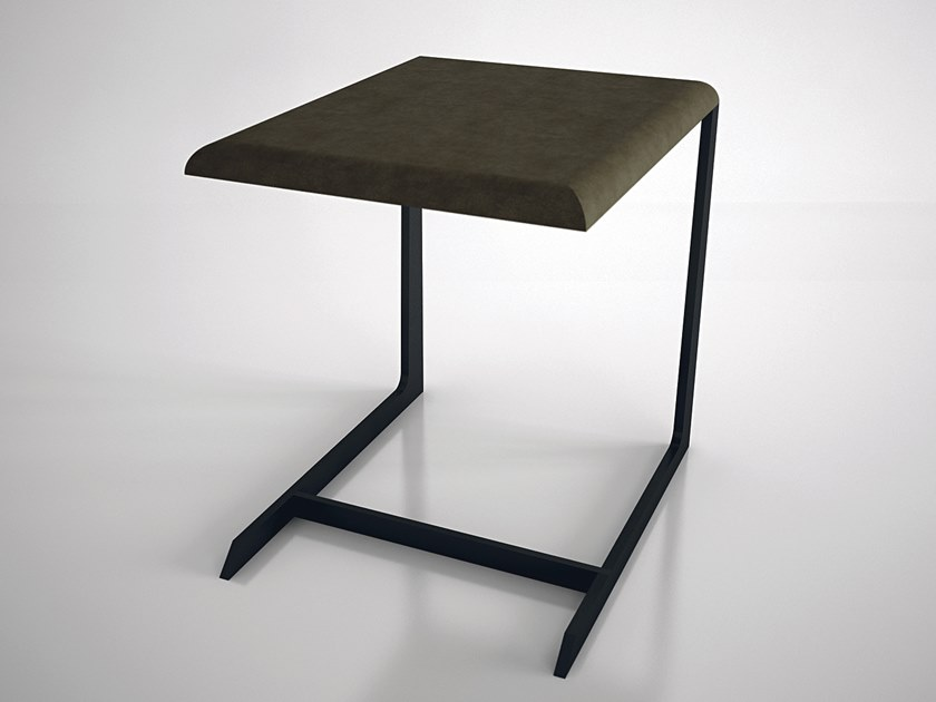 Leather side table IMPERIOUS | Side table by ENNE
