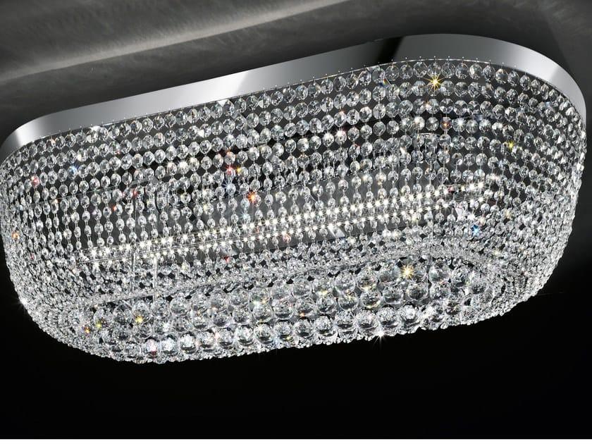 Lampada da soffitto a LED a luce diretta in metallo cromato con cristalli IMPERO VE 819 | Lampada da soffitto by Masiero