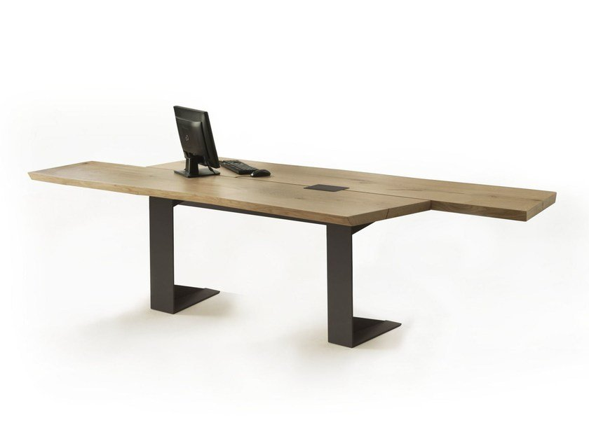 Wooden Office Desk IMPLEMENT | Office Desk By Riva 1920