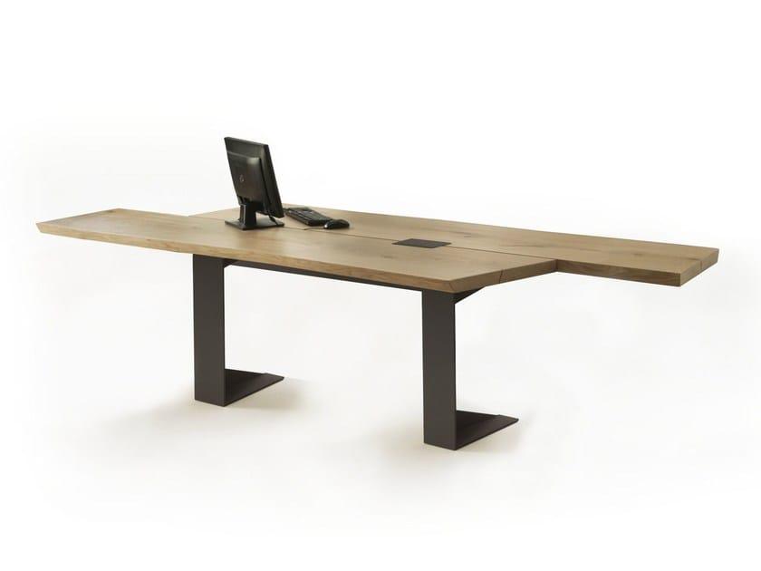 Wooden office desk IMPLEMENT | Office desk by Riva 1920