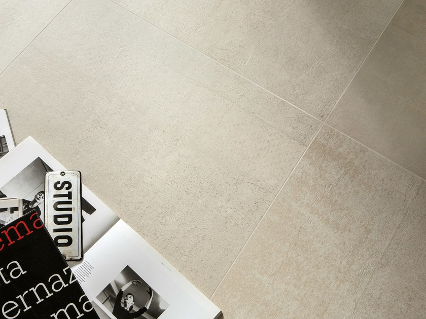 Porcelain stoneware wall/floor tiles with concrete effect IMPRESS CHIARO by ASTOR CERAMICHE
