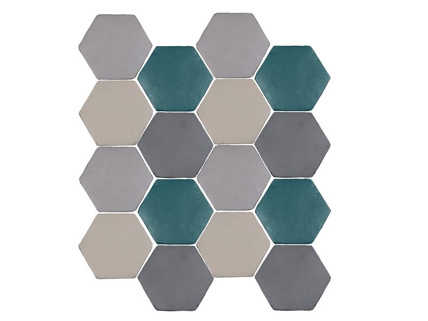 Indoor faïence wall tiles IMPRESSIONI MIX PACK.4 by Danilo Ramazzotti