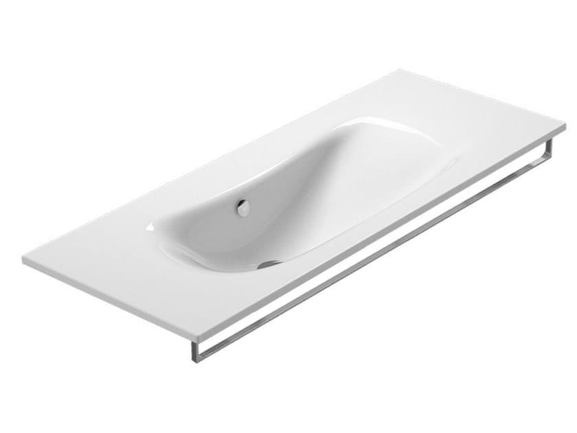Wall-mounted washbasin with towel rail IMPRONTA | Wall-mounted washbasin by CERAMICA CATALANO