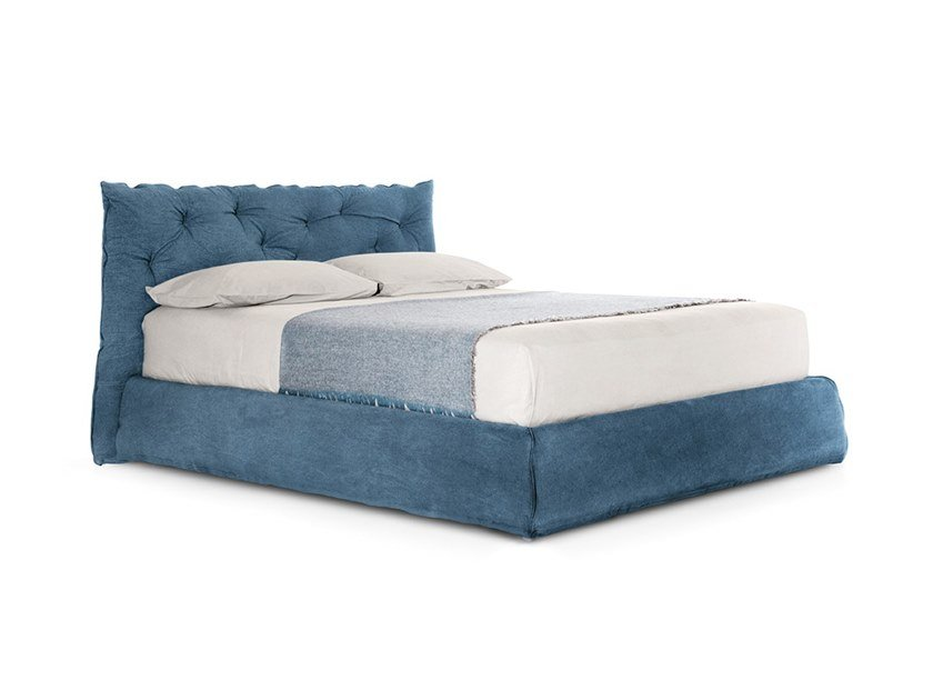Upholstered fabric bed double bed with tufted headboard IMPUNTO | Fabric bed by PIANCA