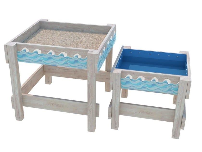 Vasca di sabbia in legno IN OUT by Zuri Design