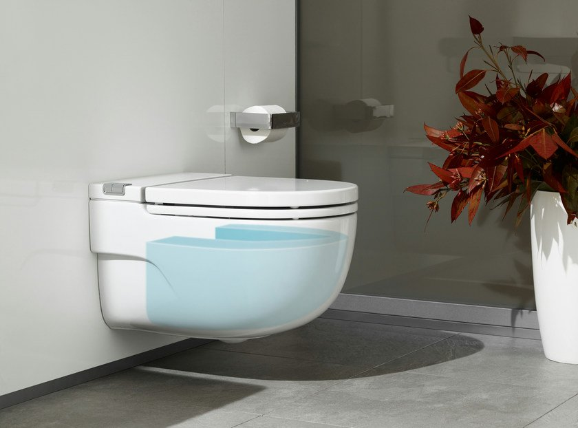 Close coupled wall-hung ceramic toilet IN-TANK MERIDIAN | Wall-hung toilet by ROCA SANITARIO