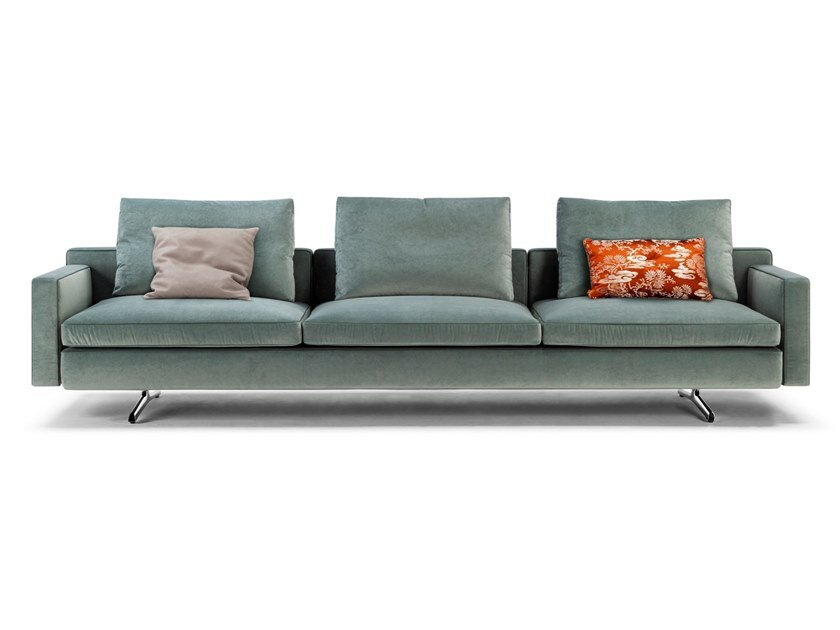3 seater fabric sofa with removable cover IN THE MOOD | 3 seater sofa by Poltrona Frau