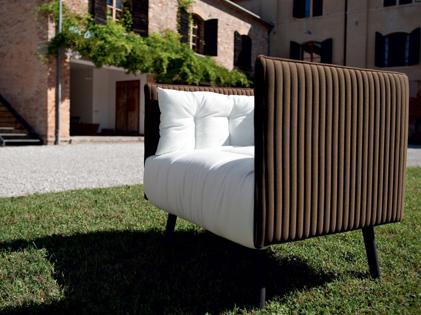 Fabric armchair with armrests INATTESA | Armchair by Martex