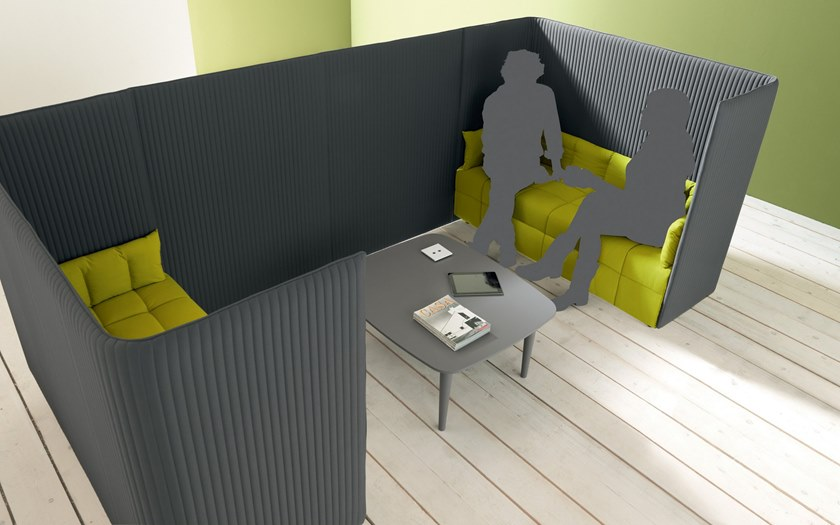 Acoustic fabric office booth INATTESA | Office booth by Martex