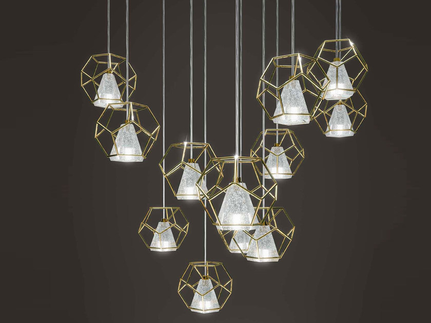Crystal pendant lamp INCANTO by Marchetti
